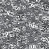 Fondo dell'etichetta del motociclo del selettore rotante Immagini Stock Libere da Diritti