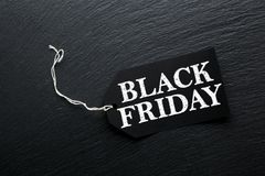 Fondo dell'etichetta di vendita di Black Friday Immagini Stock