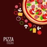 Fondo dell'icona della pizza Immagine Stock