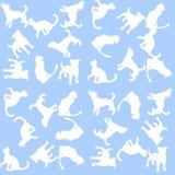 Fondo dell'illustrazione con i cani ed i gatti Reticolo senza giunte Immagini Stock Libere da Diritti