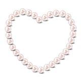 Fondo dell'illustrazione di vettore del cuore della perla Immagine Stock Libera da Diritti