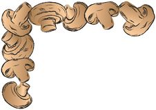Fondo dell'illustrazione di vettore della struttura dei funghi Fotografia Stock Libera da Diritti