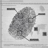 Fondo dell'impronta digitale Fotografia Stock Libera da Diritti