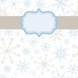 Fondo dell'insegna del fiocco di neve Fotografia Stock
