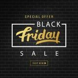 Fondo dell'insegna di vendita di Black Friday Fotografia Stock Libera da Diritti