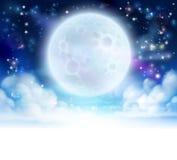 Fondo dell'intestazione del cielo della luna illustrazione vettoriale