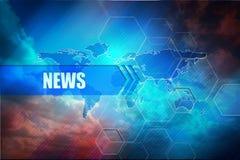 Fondo dell'intestazione di notizie Immagine Stock Libera da Diritti