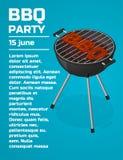 Fondo dell'invito del partito del BBQ Fotografie Stock