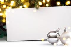 Fondo dell'invito di Art Christmas Fotografia Stock Libera da Diritti