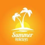 Fondo dell'isola di vacanze estive Fotografia Stock Libera da Diritti