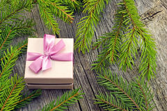 Fondo dell'nuovo anno con le decorazioni Immagini Stock