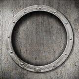 Fondo dell'oblò del metallo Fotografia Stock