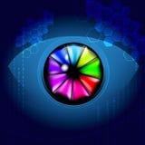 Fondo dell'occhio di tecnologia Fotografia Stock