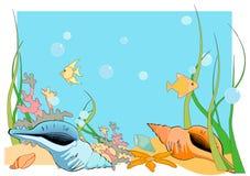 Fondo dell'oceano Immagini Stock