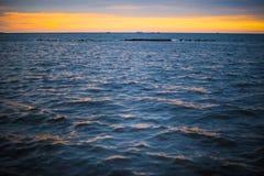 Fondo 1 dell'oceano di tramonto Immagine Stock