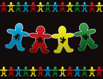 Fondo dell'omino di carta di autismo di bambino Fotografie Stock Libere da Diritti