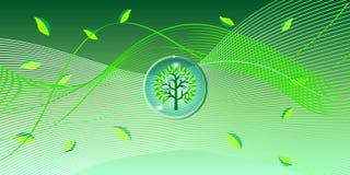Fondo dell'onda delle foglie verdi Fotografie Stock Libere da Diritti