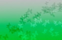Fondo dell'onda verde con la farfalla Fotografie Stock