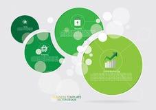 Fondo dell'opuscolo del modello di affari illustrazione di stock