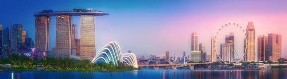 Fondo dell'orizzonte di Singapore immagini stock