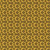 Fondo dell'oro con i fiori neri di scintillio Immagini Stock