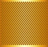 Fondo dell'oro con il modello perforato Fotografia Stock Libera da Diritti