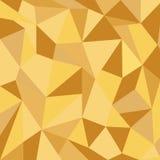 Fondo dell'oro del triangolo Fotografia Stock