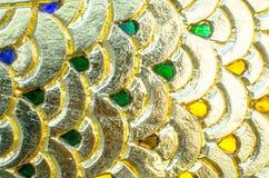 Fondo dell'oro della sfuocatura Immagini Stock