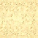 Fondo dell'oro, modello dei quadrati Fotografia Stock
