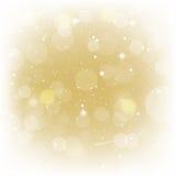 Fondo dell'oro per l'illustrazione di vettore dei biglietti di S. Valentino Immagini Stock Libere da Diritti