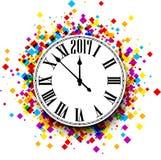 Fondo dell'orologio da 2017 nuovi anni Immagini Stock Libere da Diritti