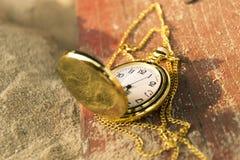 Fondo dell'orologio da tasca di concetto di termine Fotografia Stock