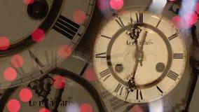 Fondo dell'orologio del nuovo anno royalty illustrazione gratis