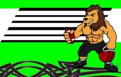 Fondo dell'uniforme di football americano del leone del muscolo Fotografie Stock Libere da Diritti