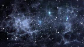 Fondo dell'universo con le stelle ed i gas interstellari video d archivio