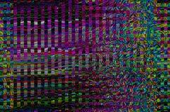 Fondo dell'universo di impulso errato Vecchio errore dello schermo della TV Progettazione dell'estratto di rumore del pixel di Di Fotografie Stock Libere da Diritti