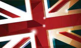 Fondo della bandiera di Britannici Fotografie Stock Libere da Diritti