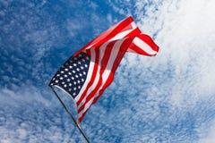 Fondo della bandiera di U.S.A., festa dell'indipendenza, del 4 simbolo luglio Immagini Stock Libere da Diritti