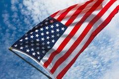Fondo della bandiera di U.S.A., festa dell'indipendenza, del 4 simbolo luglio Fotografie Stock