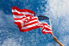 Fondo della bandiera di U.S.A., quarto del simbolo di festa dell'indipendenza di luglio Fotografie Stock Libere da Diritti