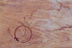 Fondo della bevanda e progettazione del menu del caffè Anello di caffè su shab Fotografie Stock