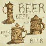 Fondo della birra Fotografia Stock