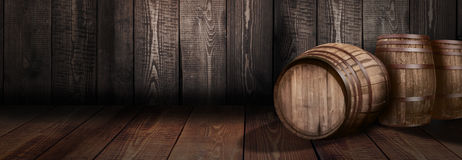 Fondo della birra della cantina del whiskey del barilotto Immagine Stock Libera da Diritti