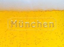 Fondo della birra di Munchen Oktoberfest Fotografie Stock Libere da Diritti