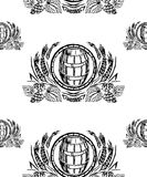 Fondo della birra - senza cuciture Fotografie Stock Libere da Diritti