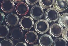 Fondo della bottiglia di vetro Immagini Stock