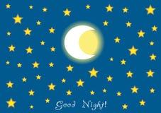 Fondo della buona notte Fotografie Stock