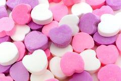 Fondo della caramella dei biglietti di S. Valentino Fotografia Stock Libera da Diritti