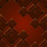 Fondo della caramella del cioccolato zuccherato di vettore caramelle di cioccolato su fondo rosso scuro Fotografia Stock