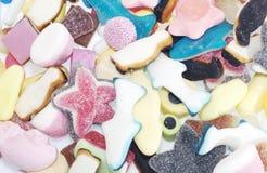 Fondo della caramella della gelatina Immagini Stock Libere da Diritti